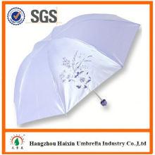 OEM/ODM Factory Wholesale Parasol Print Logo new sex beautiful girl picture manual open 3 fold umbrella