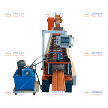 Fully automatic roll forming vertical rack groove machine for aluminum siding