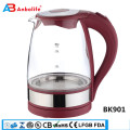 1.8L cordless electric fast rapid boiling kettle with british strix control, instant water heater pot with boil dry protection