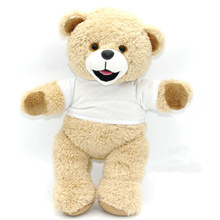Customized Printed Logo T Shirt Plush Teddy Bear