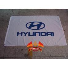 Drapeau de l'équipe de course automobile HYUNDAI Bannière du club automobile HYUNDAI 90*150CM 100% polyester
