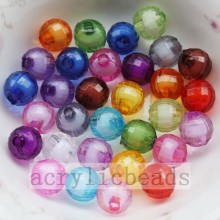 Quality for Acrylic Faceted Beads Hot sell clear earth shape jewelry bead in bead export to Bahrain Importers