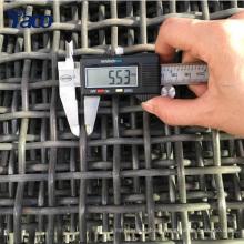 65Mn alambre de acero Alambre de hierro Agujero cuadrado Agudeza de malla de malla de alambre prensado