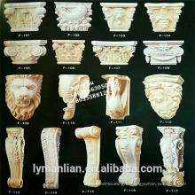 supports décoratifs en bois sculpté à la main