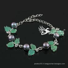 Bracelet perle simulé simple à pied rond Prix d'usine Bracelets et bracelets de mode 2013 Nouveau design