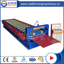 PLC Controlling PPGI Corrugated Metal Roofing Sheet Machine
