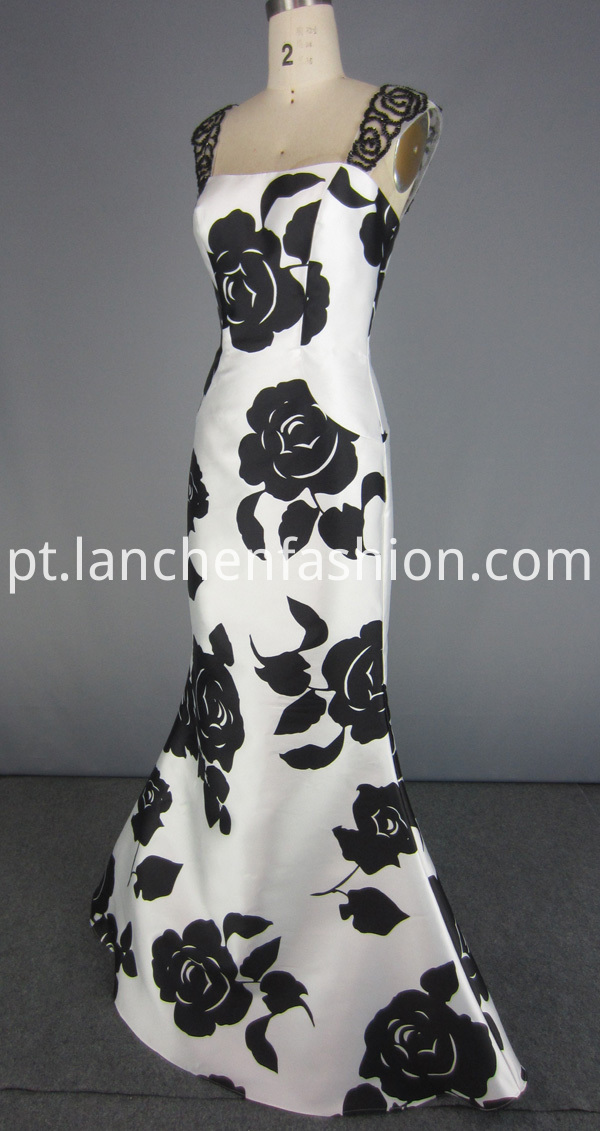 Elegant Flower Prom Dress