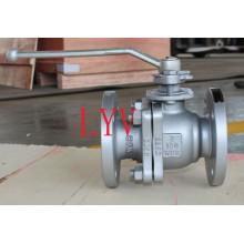 Válvula de bola flotante de acero fundido bridado