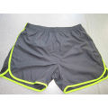 Yj-3022 Mens Lined Microfiber Blue Running Workout Shorts