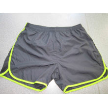 Yj-3022 Mens Lined microfibra azul Running Workout Shorts