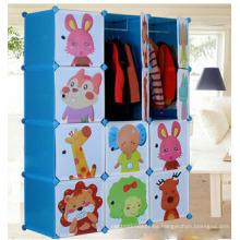 Armario de plástico de la caja de almacenamiento de los niños Armarios de la venta al por mayor útiles