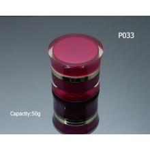 Big 50g rodada vazia elegante Acrílico Jar