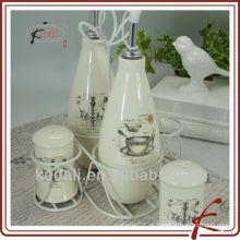 Botellas de cerámica para el aceite de oliva