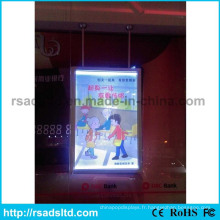 Double côtés publicité affiche cadre cadre boîte à lumière