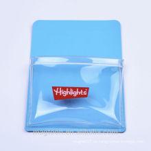 2016 personalizado PVC magnético transparente bolsillo mayorista