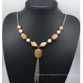 Imitação jade camisola colar (xjw13755)