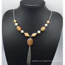 Nachahmung Jade Pullover Halskette (XJW13755)