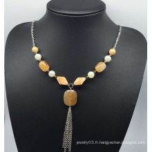 Collier de chandail de jade d'imitation (XJW13755)