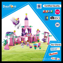 Special Offer!Best toys for 2015 christmas gift kid plastic castle building blocks