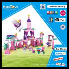 Os melhores brinquedos para 2015 presente de Natal miúdo plástico castelo blocos de construção