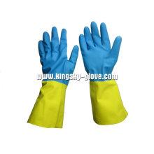 13 Mil Double Color Neopren Industrial Handschuh-5641