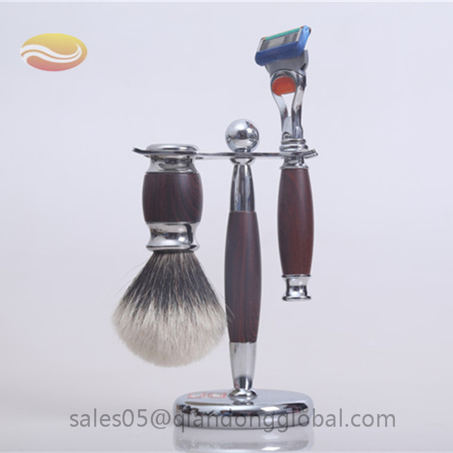 Badger Shaving Brush Set with Wood Handle