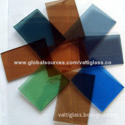 Tinted float glass with dark blue/dark green/bronze/dark grey/Ford blue/Ford green/Europe grey color