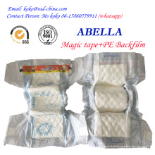 Magic Frontal Tape PE Film für Nigeria Markt Abella Marke Lieferant von Baby Windel Windel