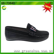 Homens de couro macios vestido sapatos para criança
