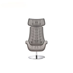 Office Headrest Swivel Fabric Visitor Lounge Armchair