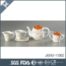 El nuevo diseño de la etiqueta de la flor de la porcelana 15pcs modificó los sistemas coloreados de la taza de té