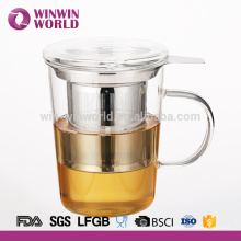 Pyrex Wholesale Glass Tea Infuser Cup 350ml With Glass Cover