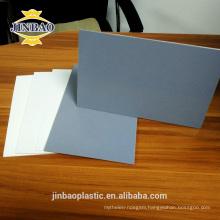 Jinbao 4x8ft 4x6ft 1.22x2.44m color PVC wall panel plastic rigid sheet