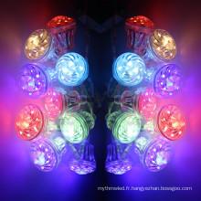 24v 18leds ip65 360 degrés a illuminé la lumière d'amusement 5050rgb a mené la lumière