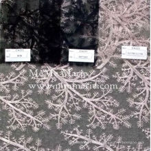 Pink Embroidery Lace Curtain Lace Fabric with Tree Like Decoration 52'' No.CA235