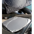 Custom Nylon Coated Silver Front Car Sunshade