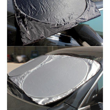 Customized Nylon Coated Silver Front Car Sunshade
