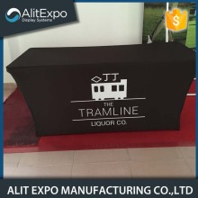 Washable custom logo trade show event table cloth