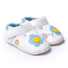 Weiße Baby-Schuhe weiche Sohle Anti-Rutsch 0-1 Jahr Mokassins