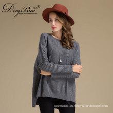 Diseño de suéter de lana de lana de color puro de invierno para niñas de niña