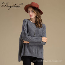 Winter pure colour woolen wool handmade sweater design for girl ladies