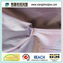 DTY e FDY poliéster verificado pongee tecido para vestuário