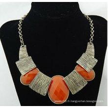 Nouveautés Chunky résine en alliage Collier Fine Lady Costume Jewelry Colliers