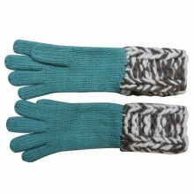 Guantes calientes hechos punto de moda de señora Fashion Wool Acrylic (YKY5420)