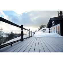 Revestimento de madeira ao ar livre deck de madeira composto composto