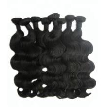 Armure de cheveux brésiliens vierges alignés de cuticle de prix épais fin