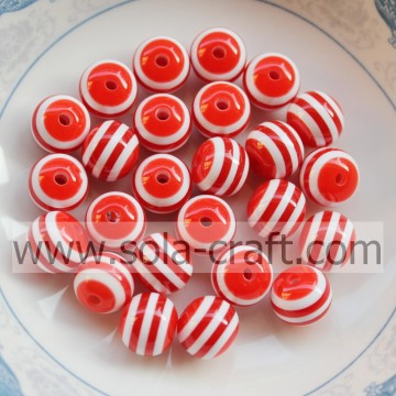 8MM 500Pcs Red Stripe African Wedding Shamballa Wholesale Polystyrene Swarovski Nigeria Decorative Curtains Resin Alibaba beads