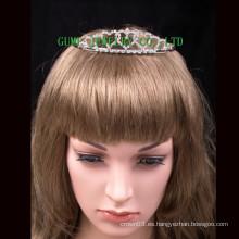 Corazón cristalino de la plata de la tiara del mini rhinestone del diseño del corazón