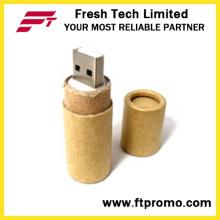 Reciclagem de papel flash drive USB com logotipo (d833)