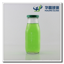 320ml Square Shaped Glass Milk Bottle with Caps